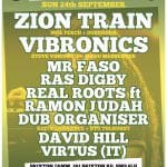 Rootikal with Zion Train, Vibronics, Real Roots ft. Ramon Judah & more 24/9/17