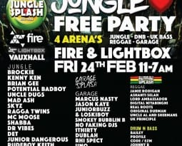 Free Party – @Fire & Lightbox Jungle/DnB/Garage/Bass/Reggae